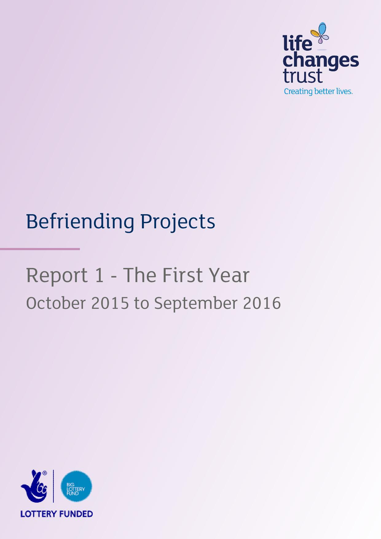 Befriending Projects - Report 1 - The First Year