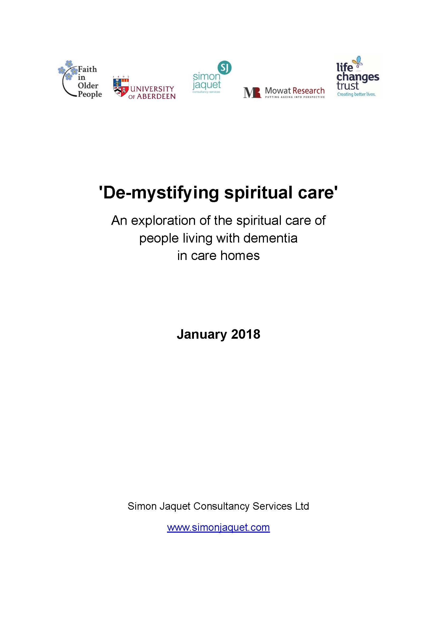 De-mystifying Spiritual Care