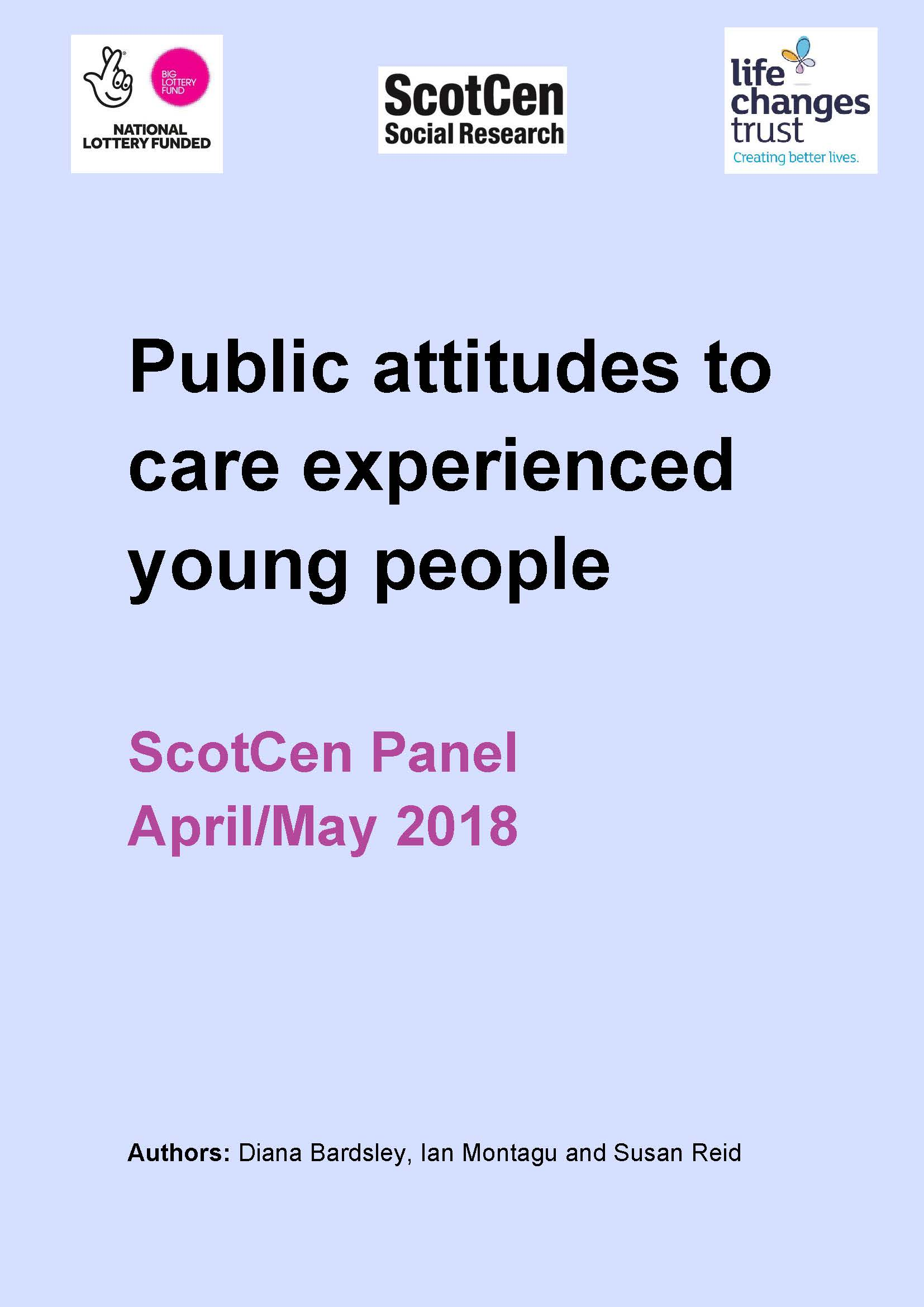 Public attitudes to care experienced young people