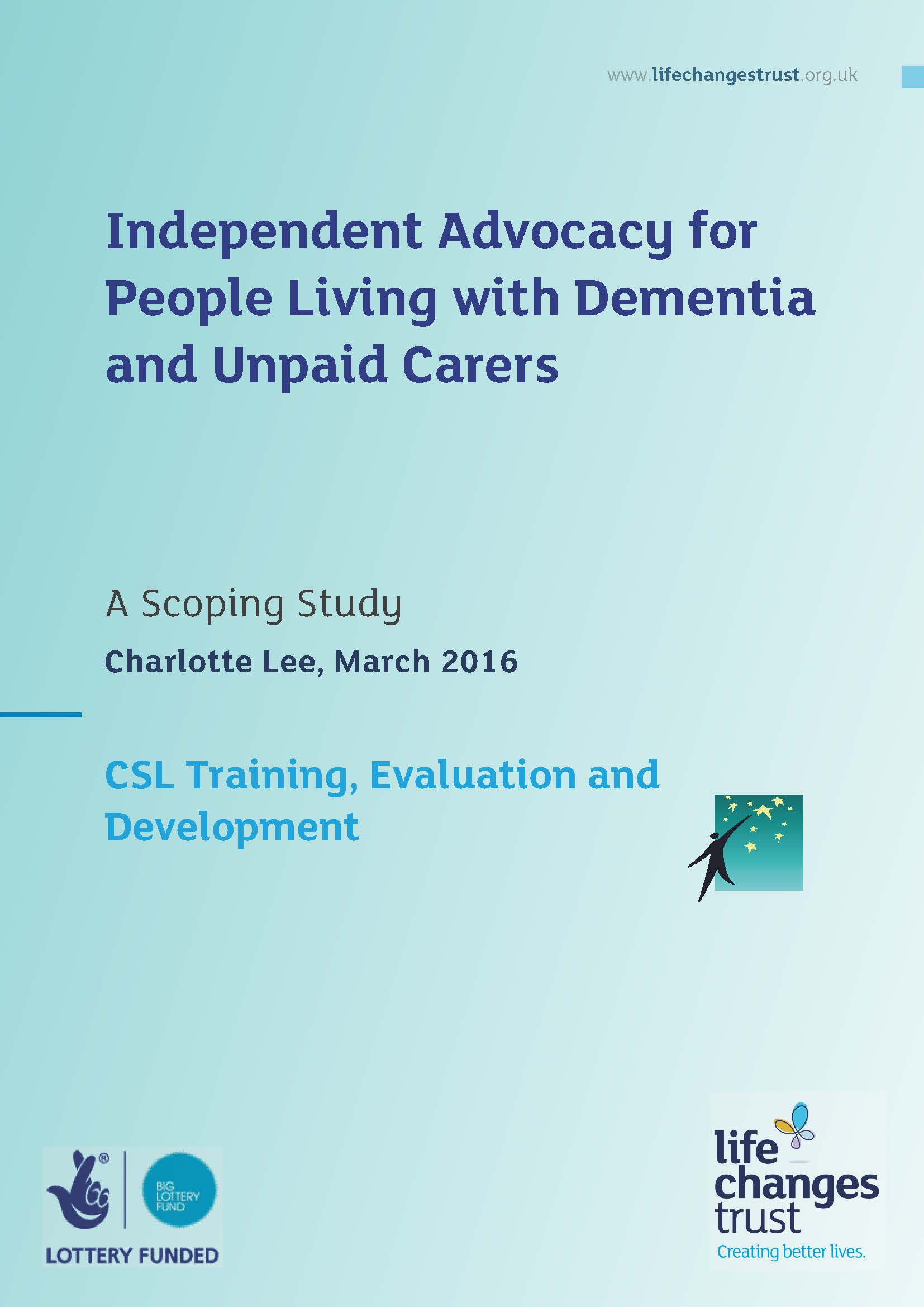 Independent Advocacy and Dementia Report