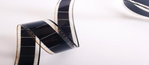 cinema film strip cropped