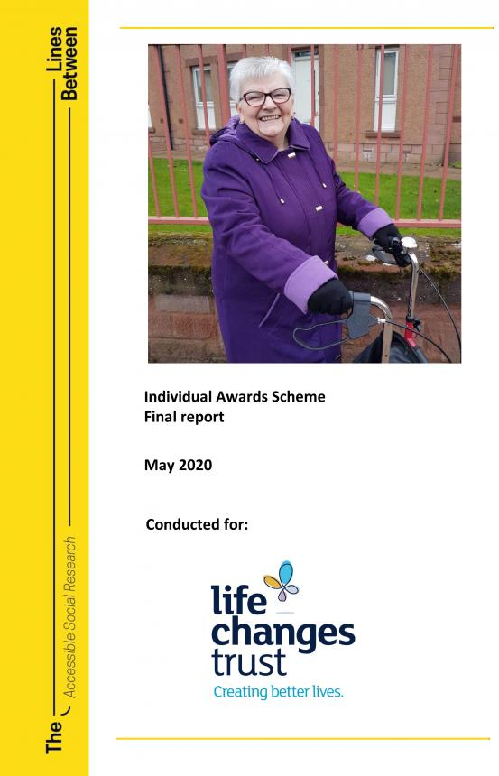 Individual Awards Scheme evaluation report front cover